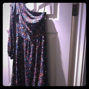 Jcrew one shoulder festive star dress
